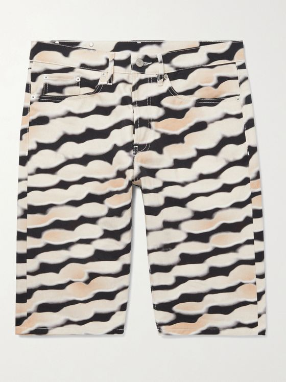 DRIES VAN NOTEN Printed Cotton Shorts