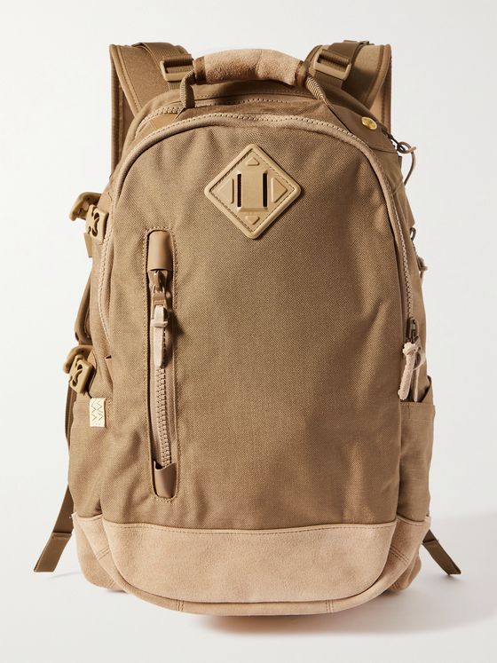 VISVIM Suede-Trimmed CORDURA Backpack