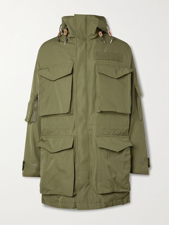 VISVIM Krupa Wool and Linen-Blend Gabardine Hooded Field Jacket
