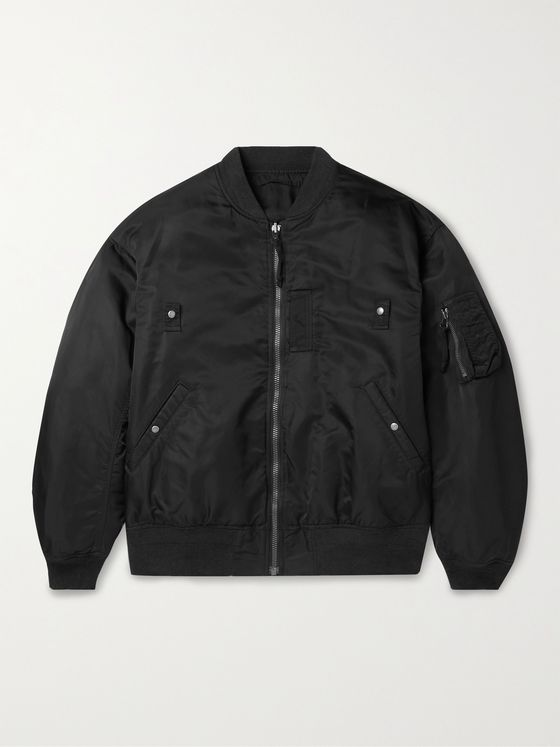 VISVIM Thorson II Reversible Nylon Bomber Jacket