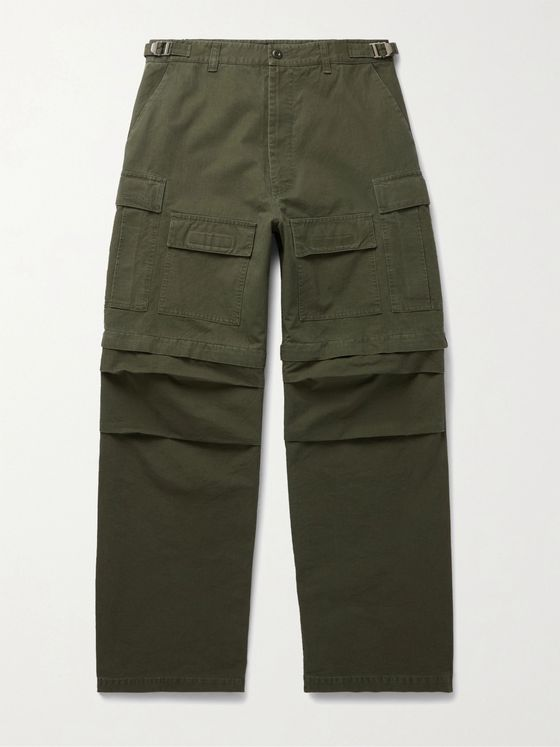 BALENCIAGA Wide-Leg Cotton-Ripstop Cargo Trousers
