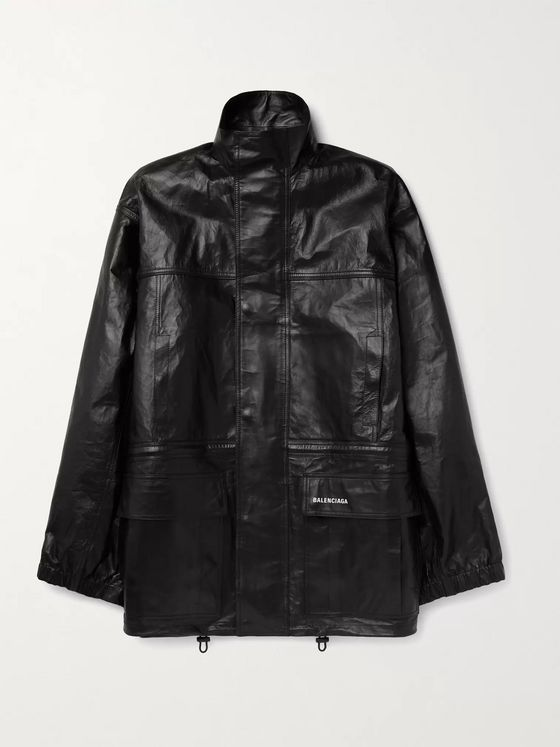 BALENCIAGA Light Oversized Leather Parka