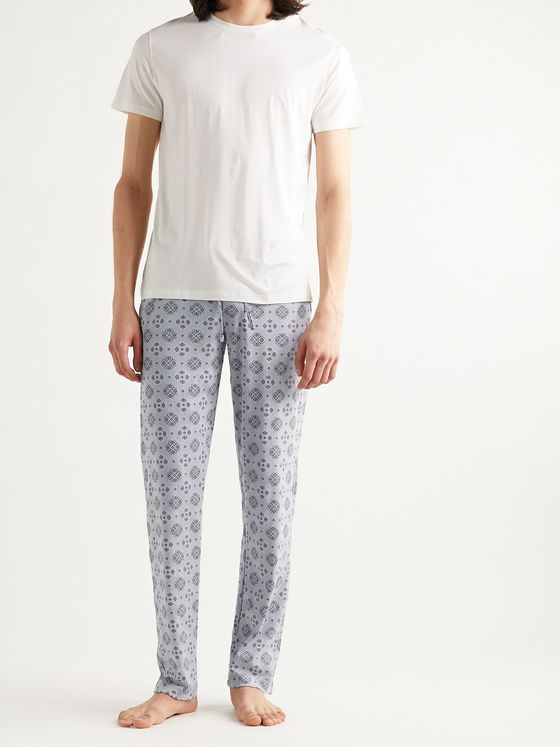 HANRO Night & Day Printed Cotton Pyjama Trousers