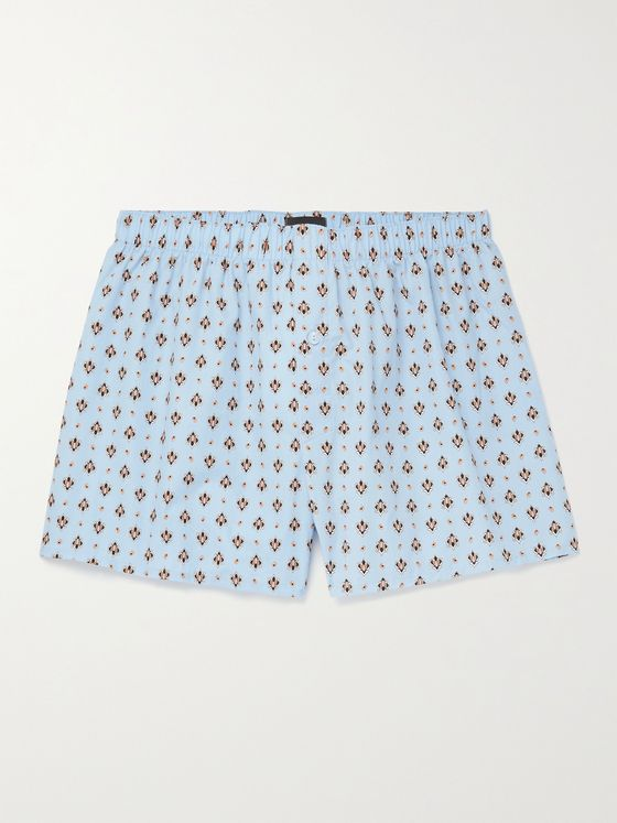 HANRO Printed Cotton Boxer Shorts