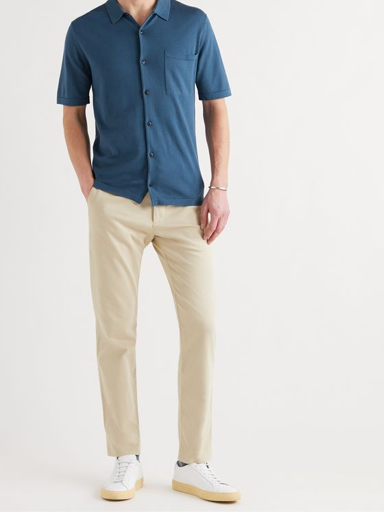 SUNSPEL Slim-Fit Sea Island Cotton-Jersey Shirt