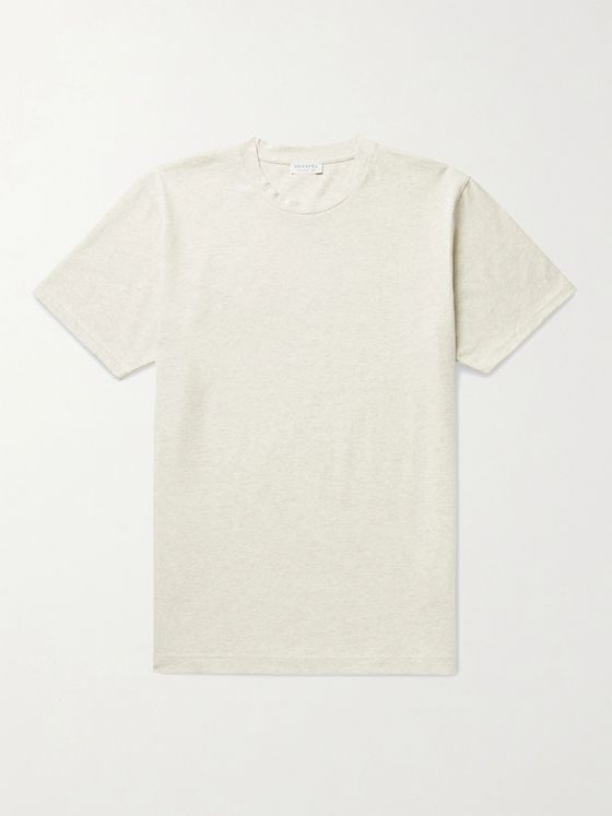 SUNSPEL Riviera Mélange Organic Cotton-Jersey T-Shirt