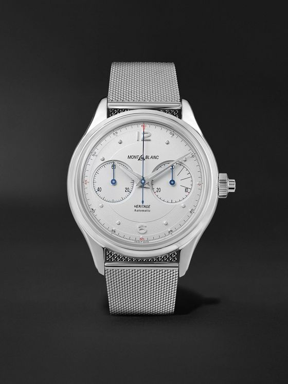 MONTBLANC Heritage Monopusher Automatic Chronograph 42mm Stainless Steel Watch, Ref. No. 119952