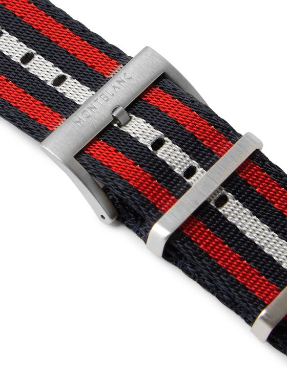 MONTBLANC Summit 2 Striped Nylon Watch Strap