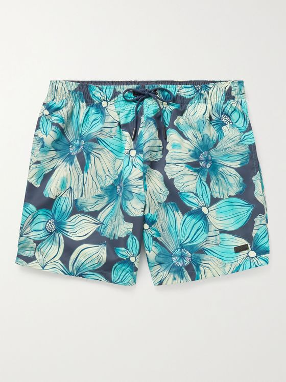 HUGO BOSS Floral-Print Swim Shorts