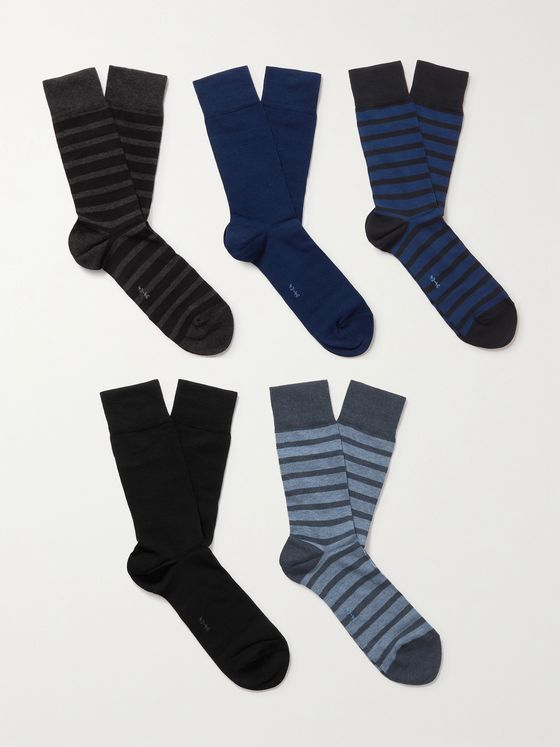 FALKE Happy Box Five-Pack Cotton-Blend Socks