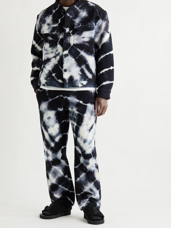 THE ELDER STATESMAN Tie-Dyed Organic Cotton-Fleece Sweatpants