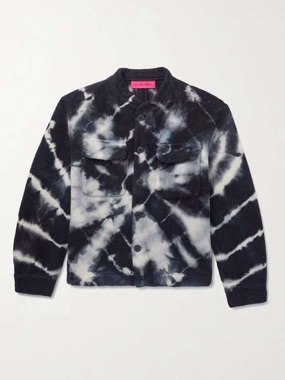 THE ELDER STATESMAN Teton Tie-Dyed Organic Cotton-Fleece Jacket