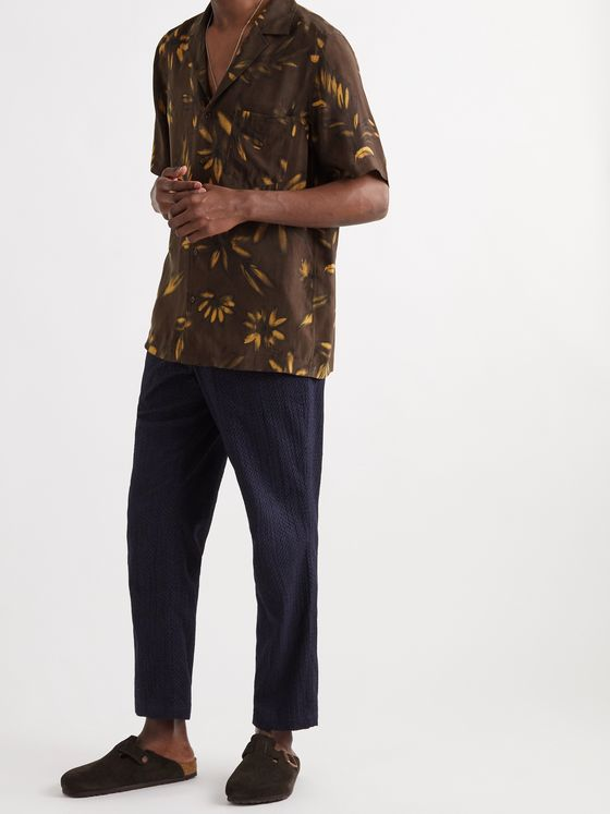 NANUSHKA Venci Camp-Collar Printed Woven Shirt