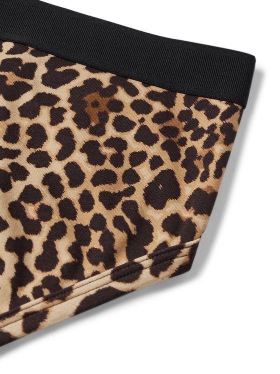 TOM FORD Leopard-Print Stretch-Cotton Briefs