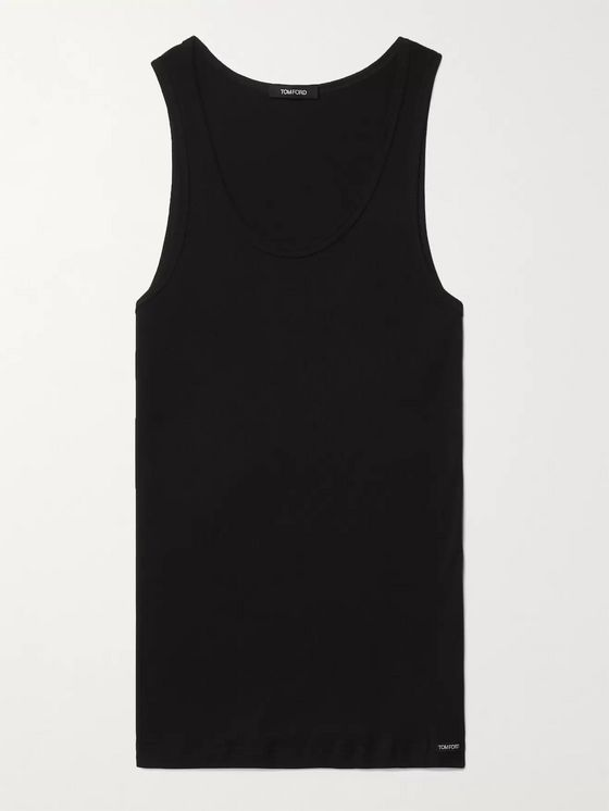 TOM FORD Ribbed Cotton and Modal-Blend Jersey Tank Top