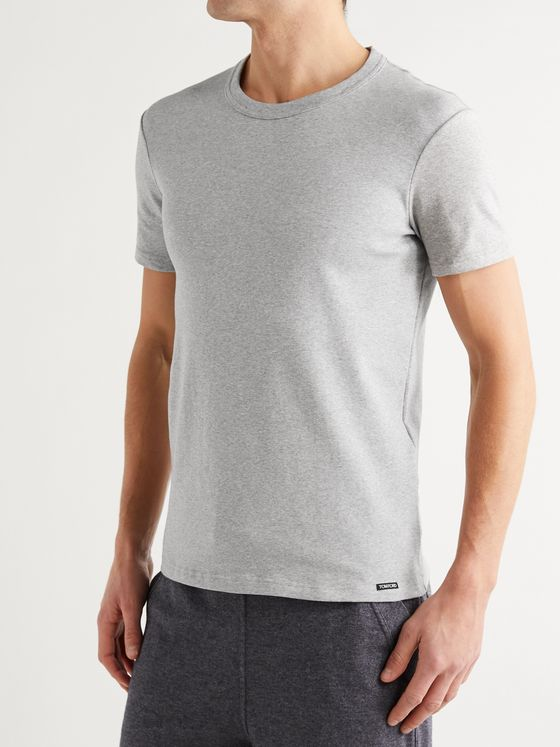 TOM FORD Slim-Fit Mélange Stretch-Cotton Jersey T-Shirt