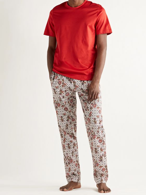 ZIMMERLI Printed Filoscozia Cotton Pyjama Trousers