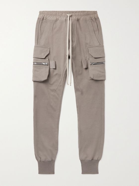 RICK OWENS Mastodon Slim-Fit Tapered Organic Cotton-Jersey Sweatpants