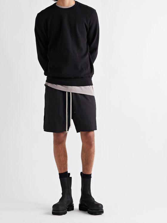 RICK OWENS Phlegethon Cotton-Blend Drawstring Shorts