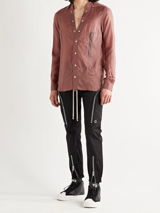 RICK OWENS Larry Satin-Twill Shirt