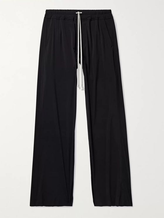 RICK OWENS Dietrich Wide-Leg Stretch-Nylon Drawstring Trousers