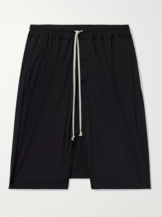 RICK OWENS DRKSHDW Pods Stretch-Nylon Drawstring Shorts