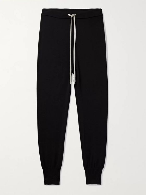 RICK OWENS Virgin Wool-Blend Drawstring Track Pants
