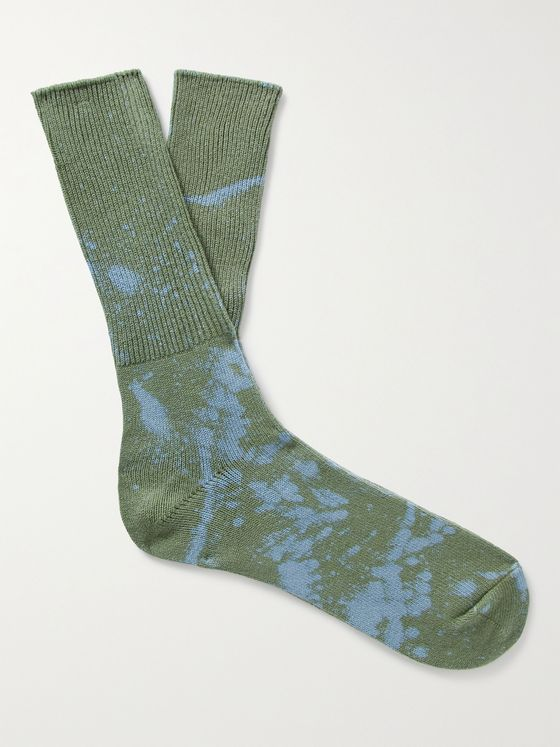 ANONYMOUS ISM Bleached Cotton-Blend Socks