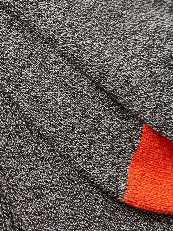 ANONYMOUS ISM Contrast-Tipped Cotton-Blend Socks