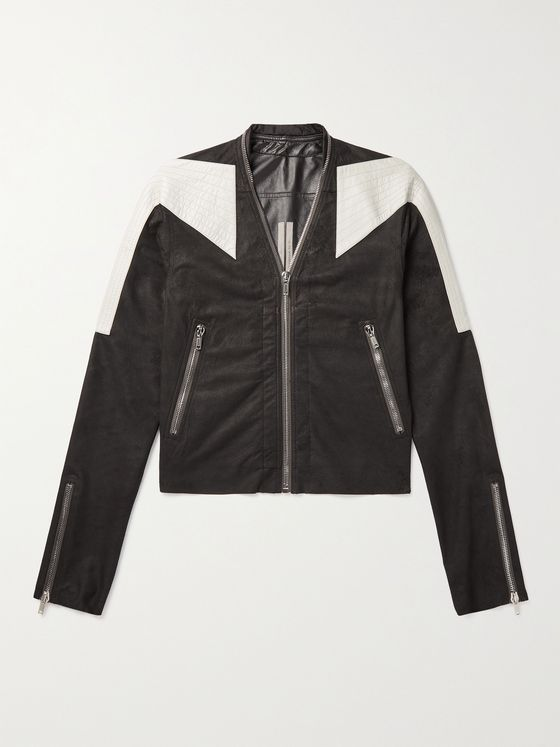 RICK OWENS Trapunto Klaus Slim-Fit Nappa Leather Jacket