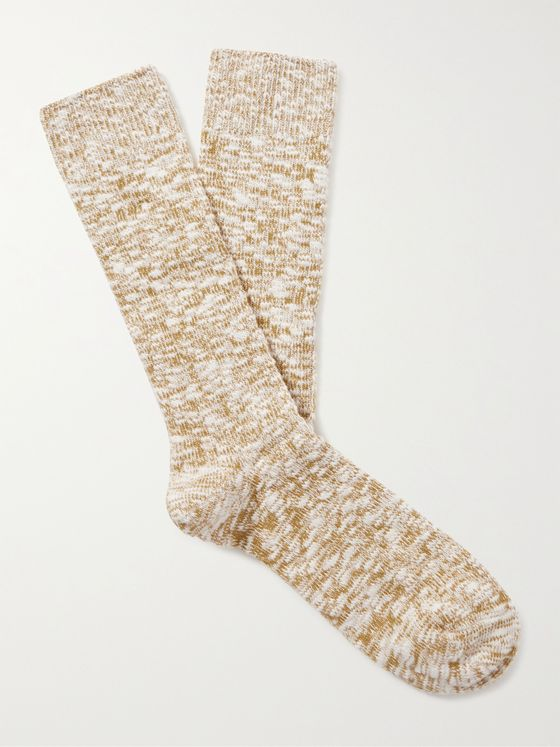 ANONYMOUS ISM Slub Cotton-Blend Socks