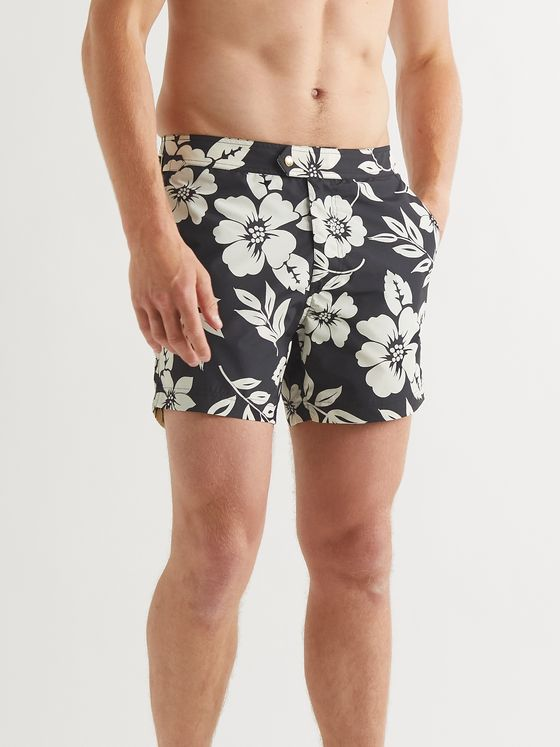 TOM FORD Mid-Length Floral-Print Swim Shorts