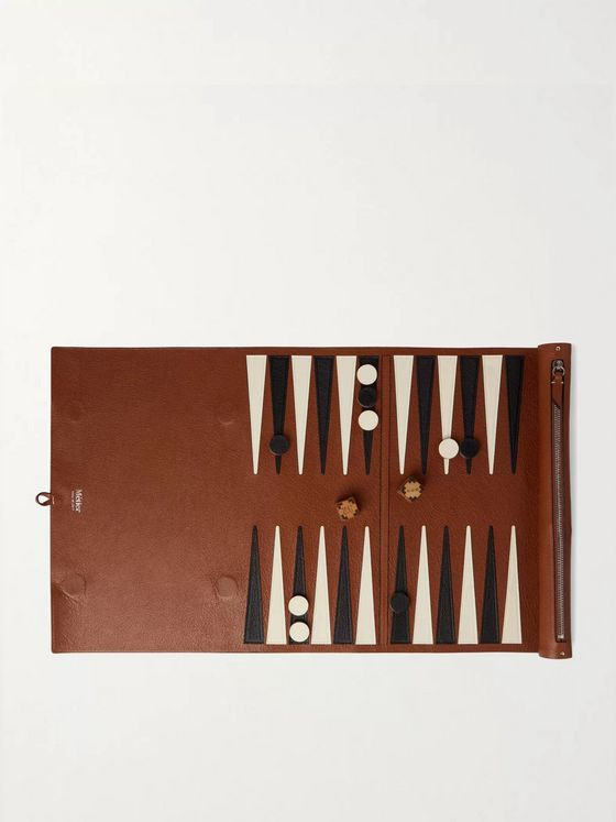 Métier Leather Backgammon Set