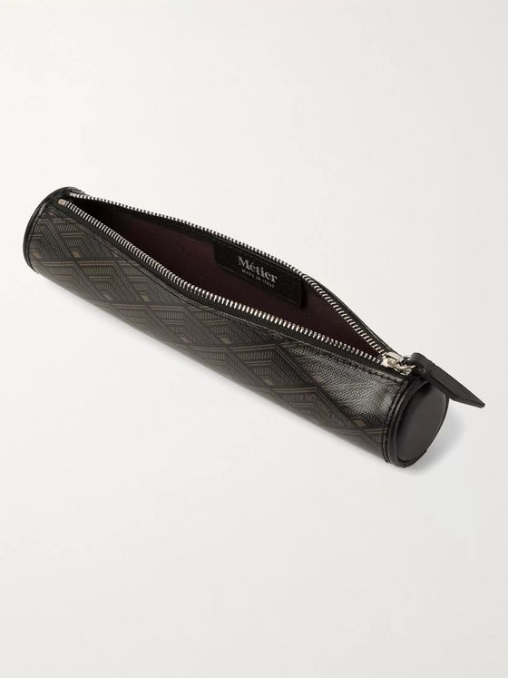 Métier Leather-Trimmed Printed Coated-Canvas Pencil Case
