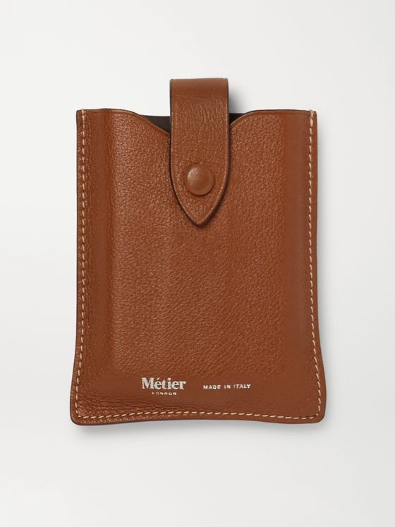 Métier Full-Grain Leather Playing Cards Case