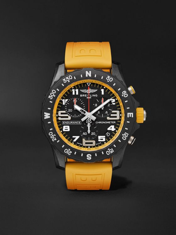 Breitling Endurance Pro SuperQuartz Chronograph 44mm Breitlight and Rubber Watch, Ref. No. X82310A41B1S1