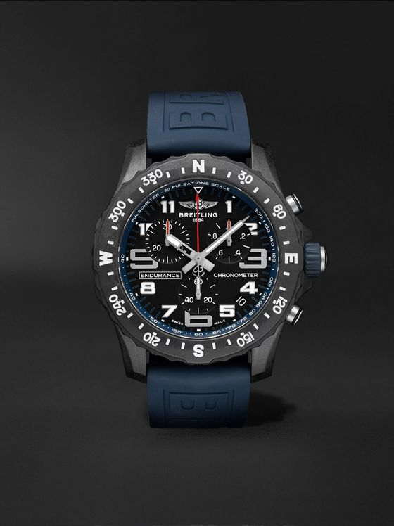 Breitling Endurance Pro SuperQuartz Chronograph 44mm Breitlight and Rubber Watch, Ref. No. X82310D51B1S1