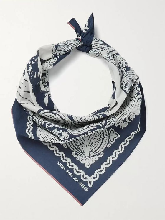KAPITAL Printed Cotton-Voile Bandana