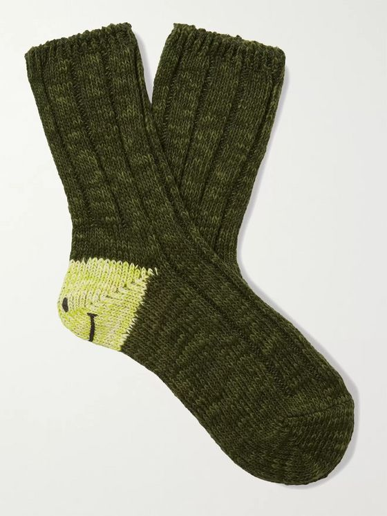 KAPITAL Smilie Cotton-Blend Socks
