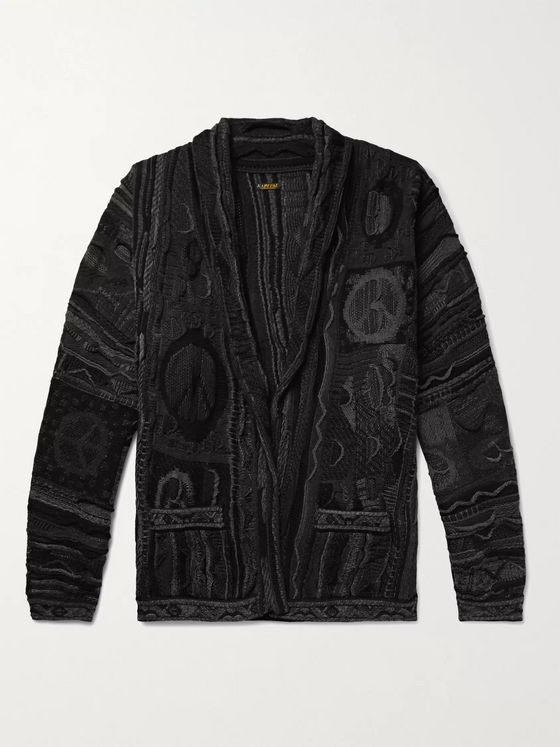 KAPITAL Boro Cotton-Blend Jacquard Cardigan