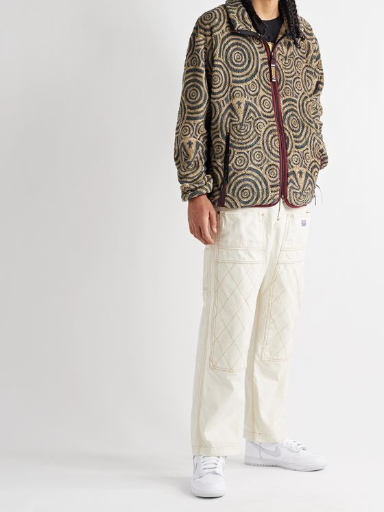 KAPITAL Jacquard-Trimmed Fleece Jacket