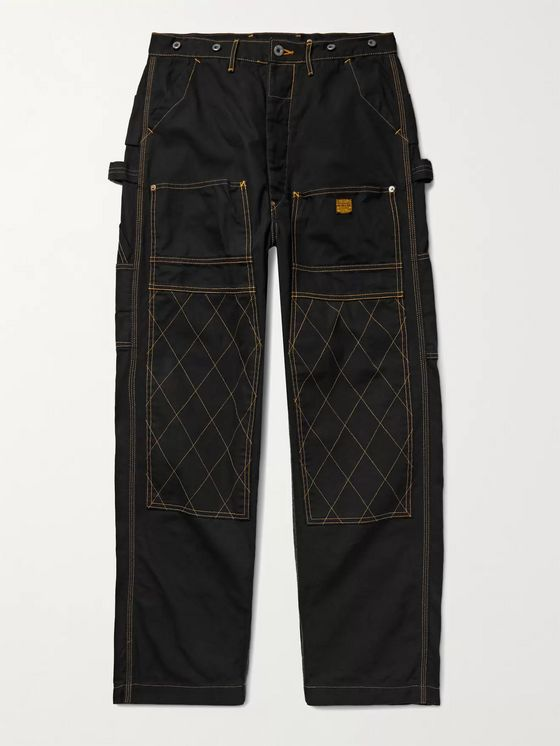 KAPITAL Lumber Top-Stitched Cotton-Canvas Trousers