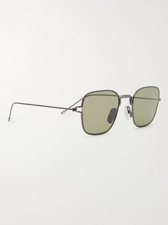 Thom Browne Square-Frame Matte-Metal Sunglasses