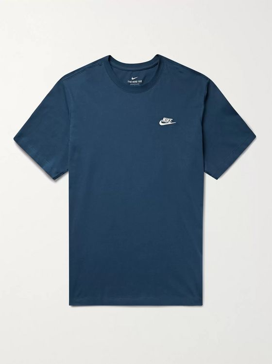 Nike Sportswear Club Logo-Embroidered Cotton-Jersey T-Shirt