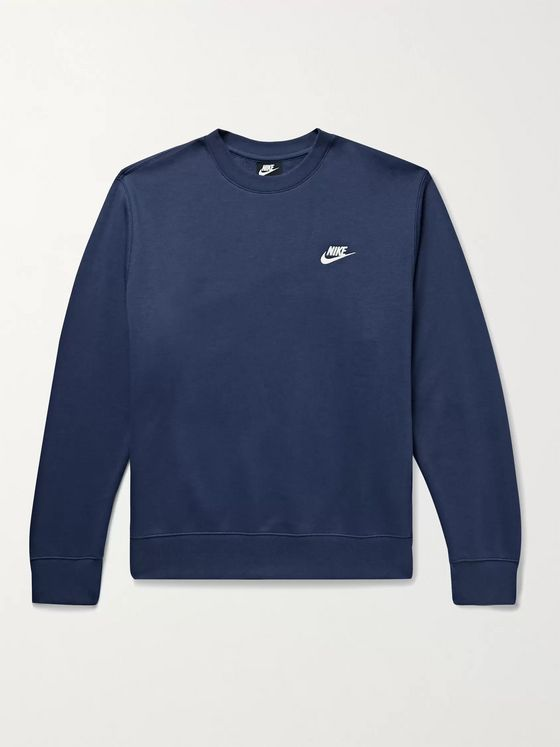 Nike Sportswear Club Fleece-Back Cotton-Blend Jersey Sweatshirt