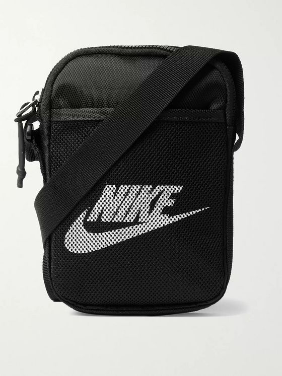 NIKE Logo-Print Coated-Canvas Pouch