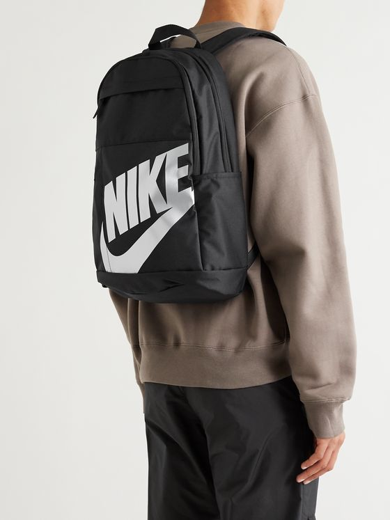 NIKE Logo-Print Canvas Backpack