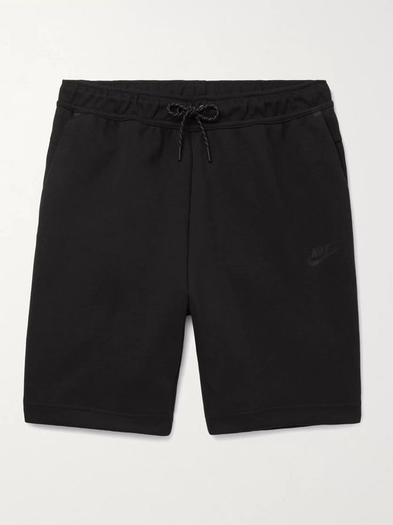 Nike Logo-Print Cotton-Blend Tech-Fleece Drawstring Shorts