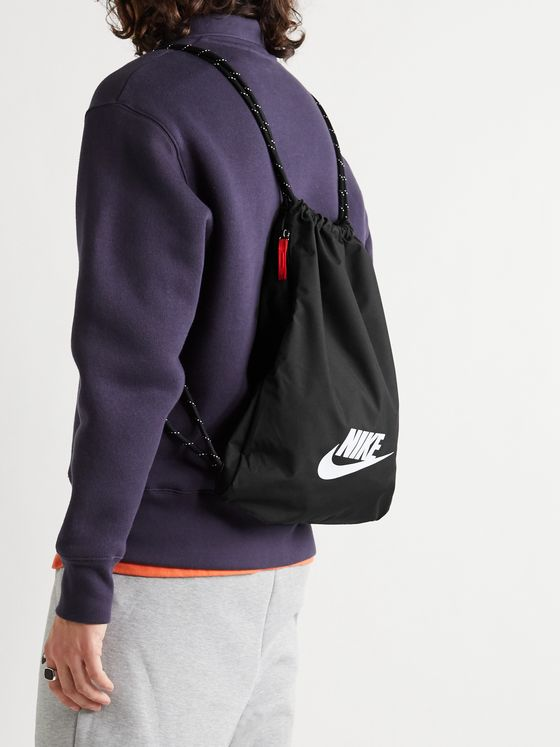 NIKE Logo-Print Shell Drawstring Backpack
