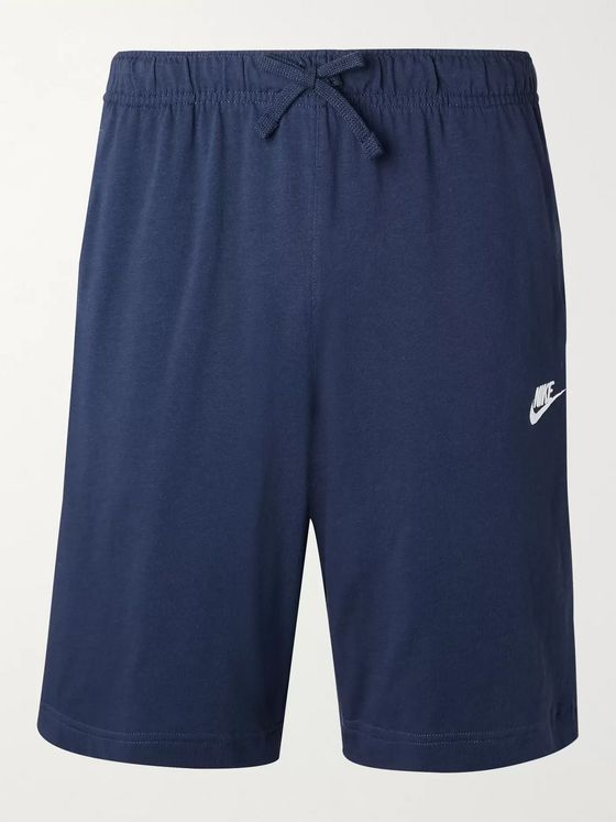 Nike Logo-Embroidered Cotton-Jersey Drawstring Shorts
